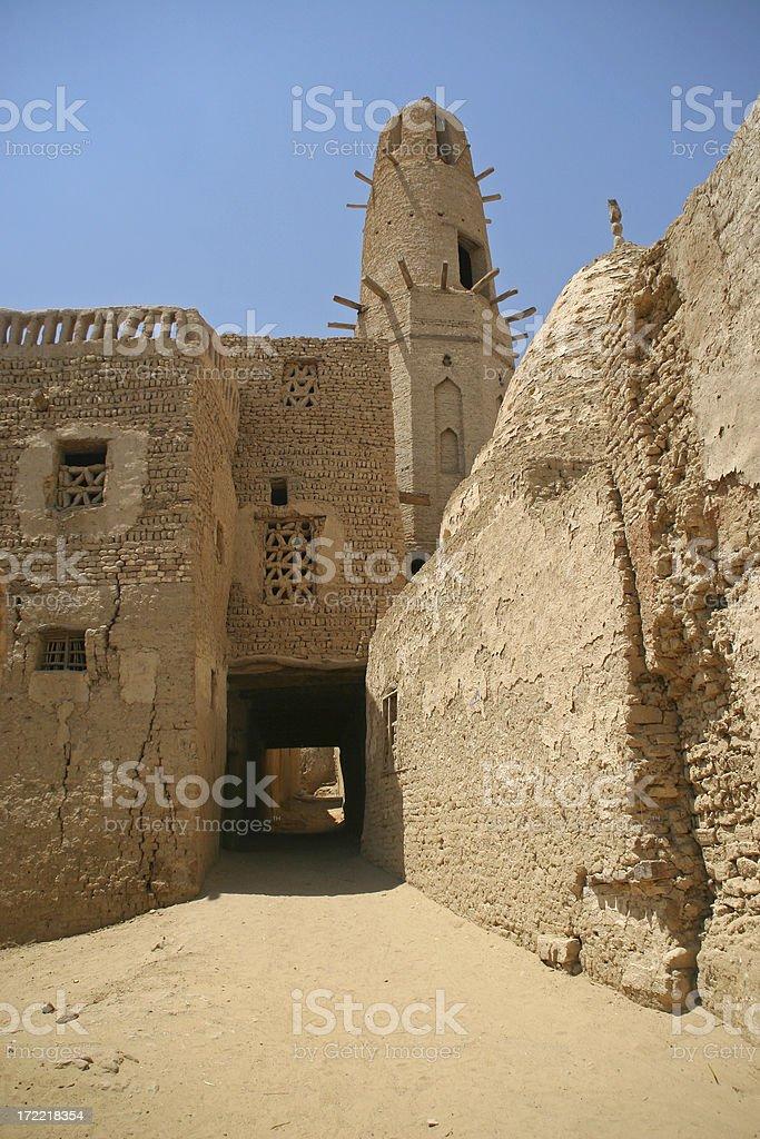 Desert town royalty-free stock photo