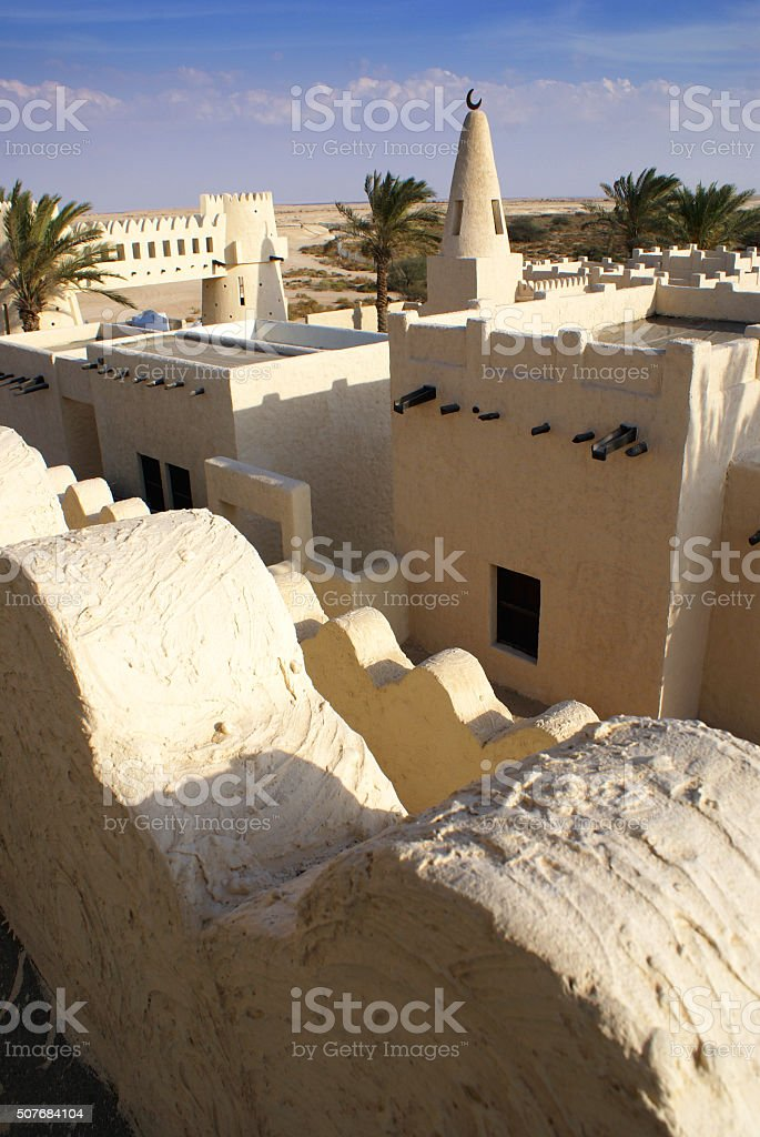 Desert town stock photo