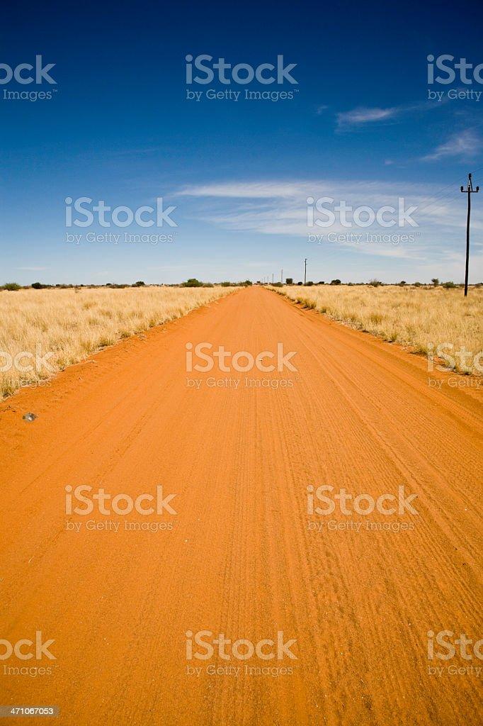 Desert Track Kalahari Namibia royalty-free stock photo