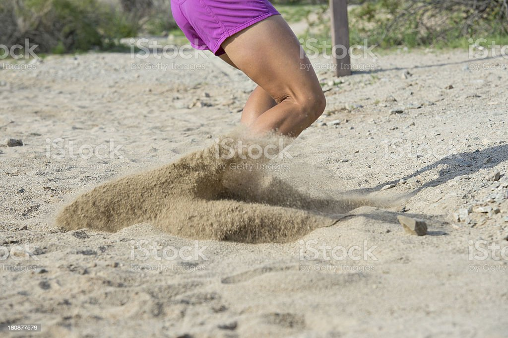 Desert Trail Full Stop in the Sand royalty-free stock photo