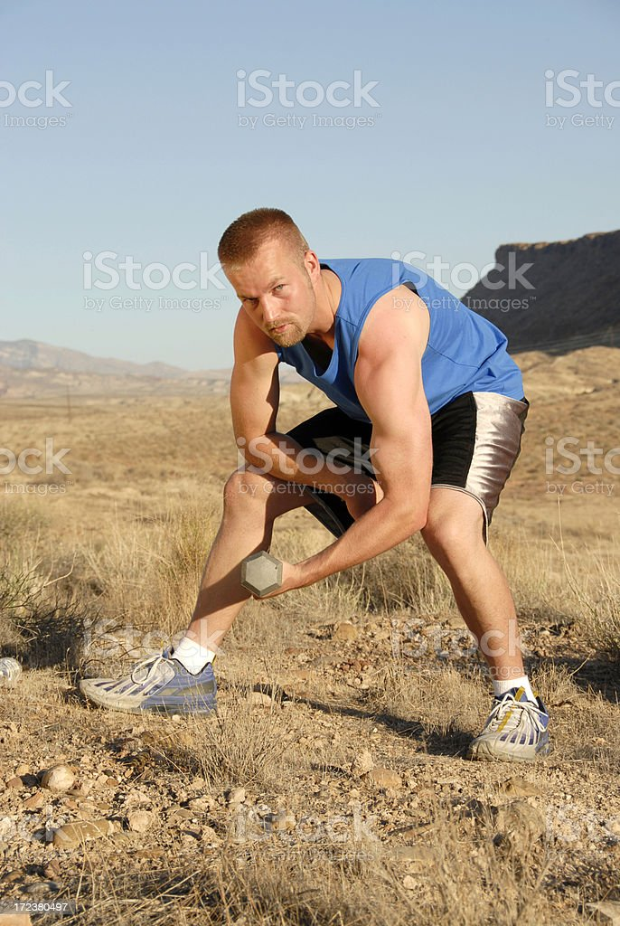 Desert Training stock photo