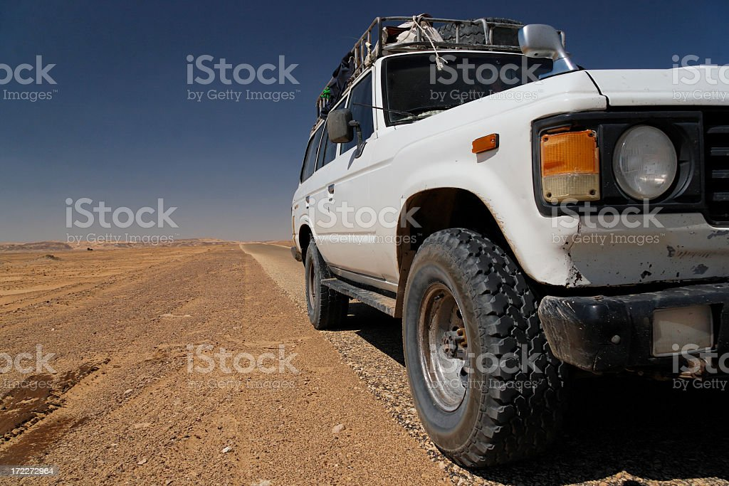 Desert travelling royalty-free stock photo