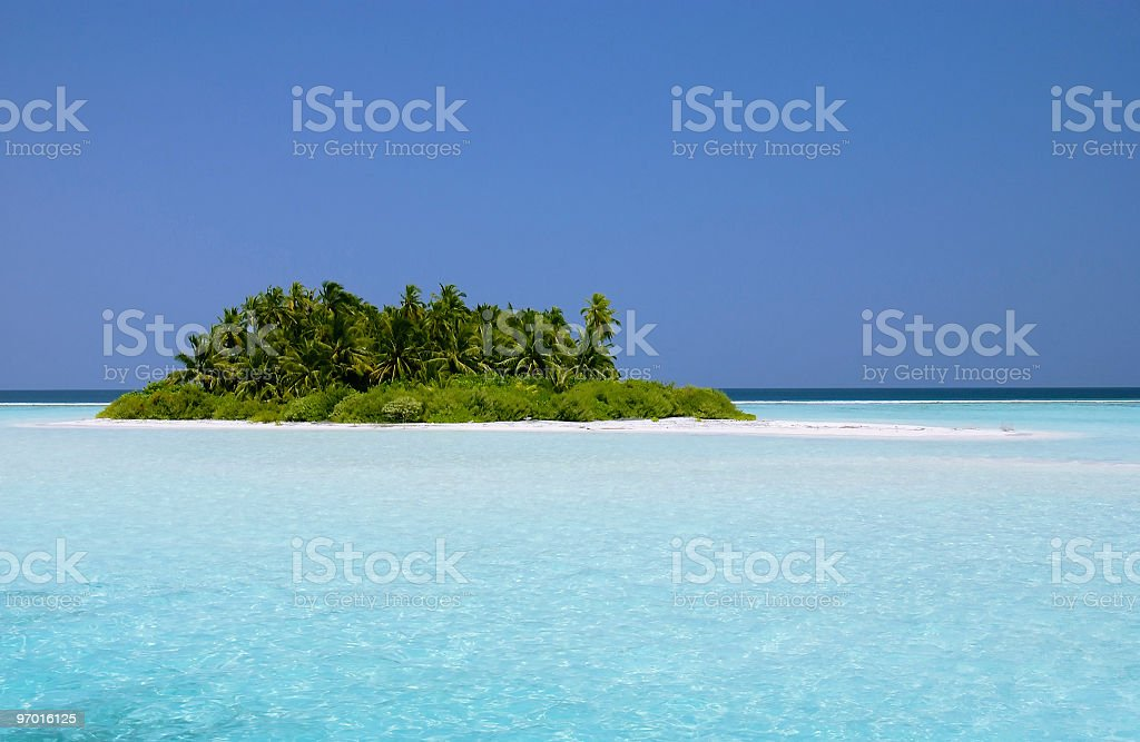 Desert tropical Island royalty-free stock photo