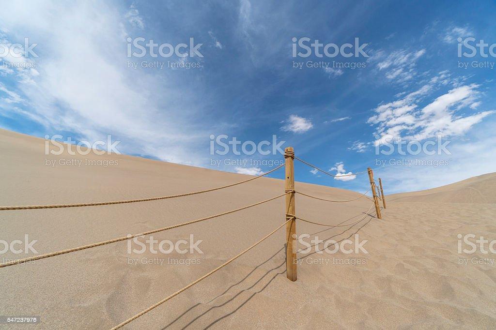 desert under cloudy sky stock photo