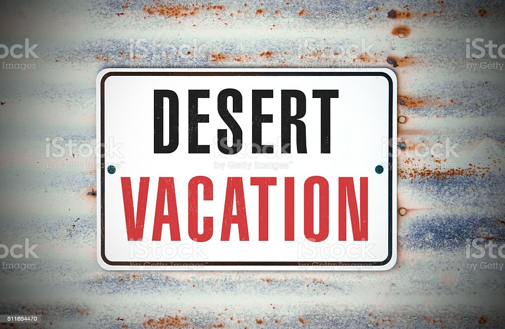 Desert Vacation stock photo