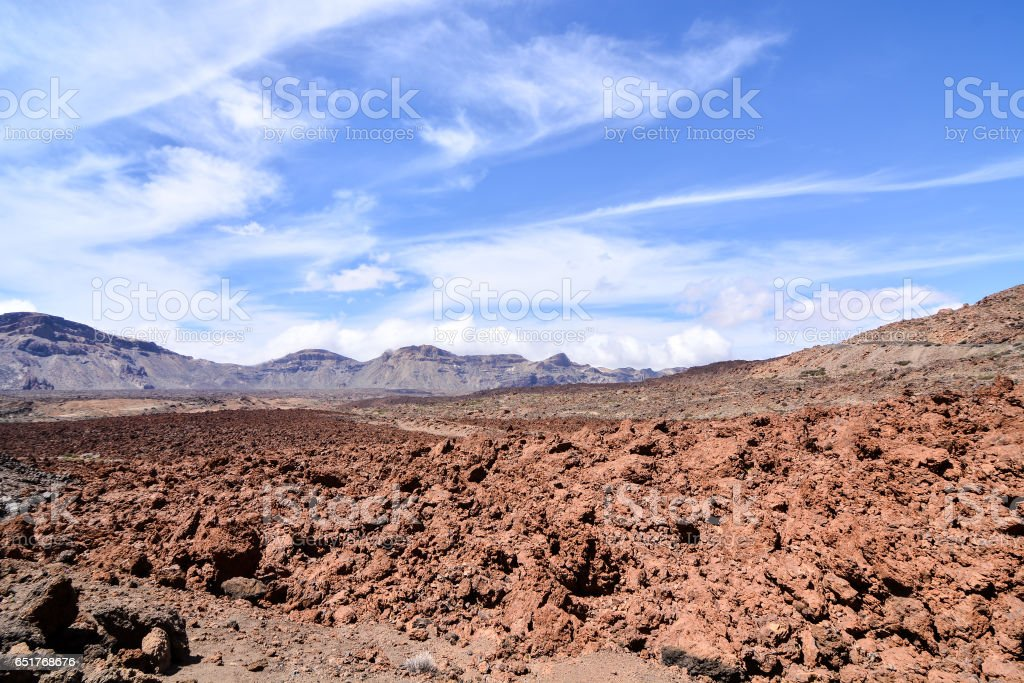 Desert valley landscape stock photo