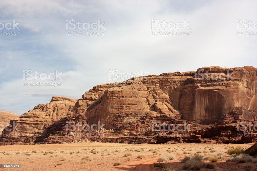 Desert valley Wadi Rum in Jordan stock photo