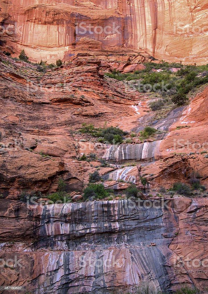 Desert Varnish Falls stock photo