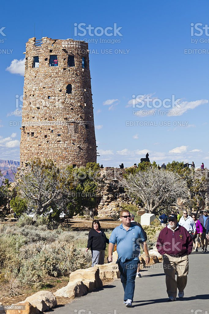 Desert View Watch Tower At The Grand Canyon stock photo