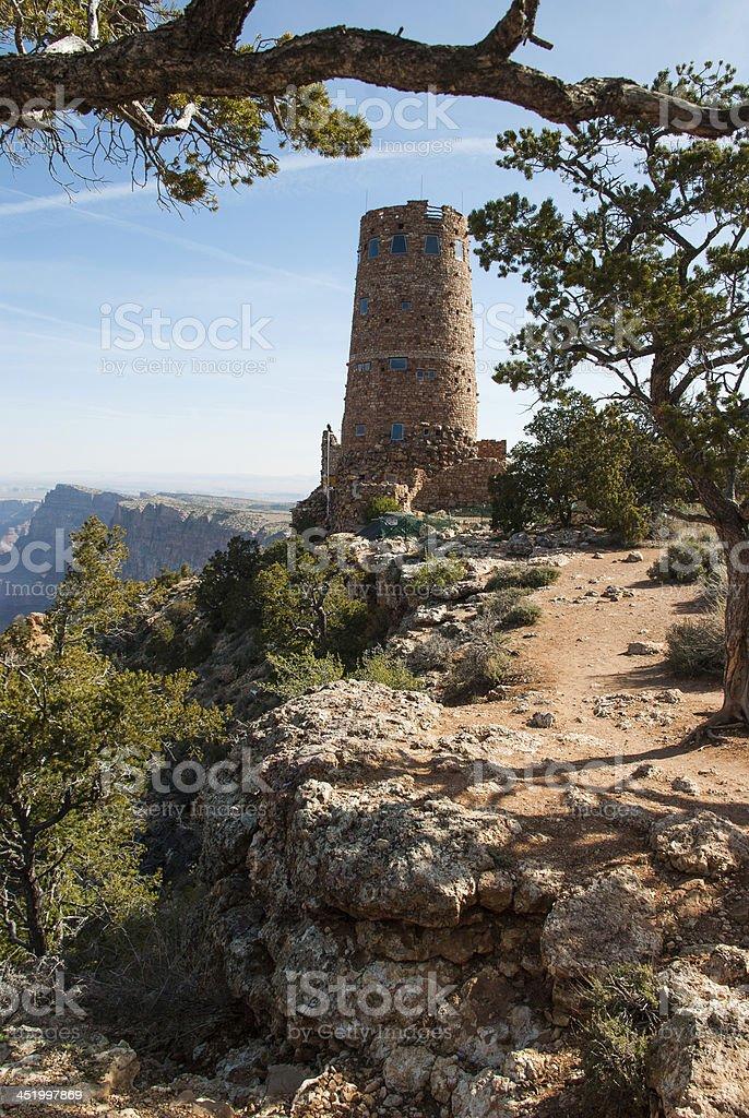 Desert View Watchtower Grand Canyon National Park Arizona stock photo