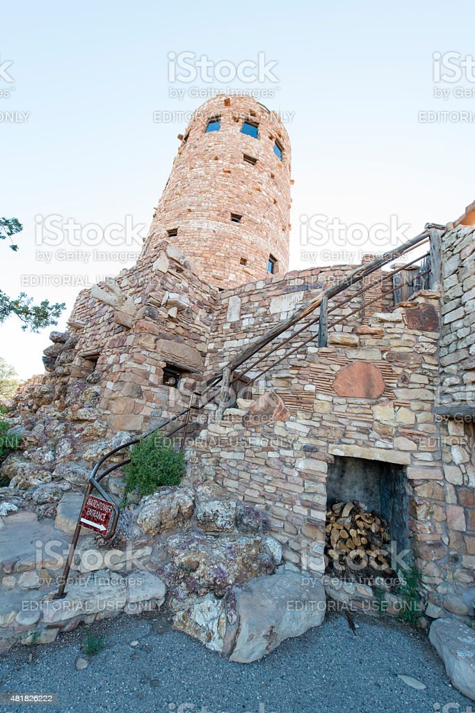 Desert View Watchtower stock photo