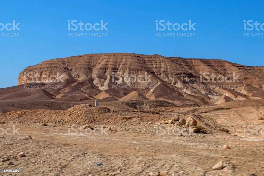 Desert views. Israel stock photo