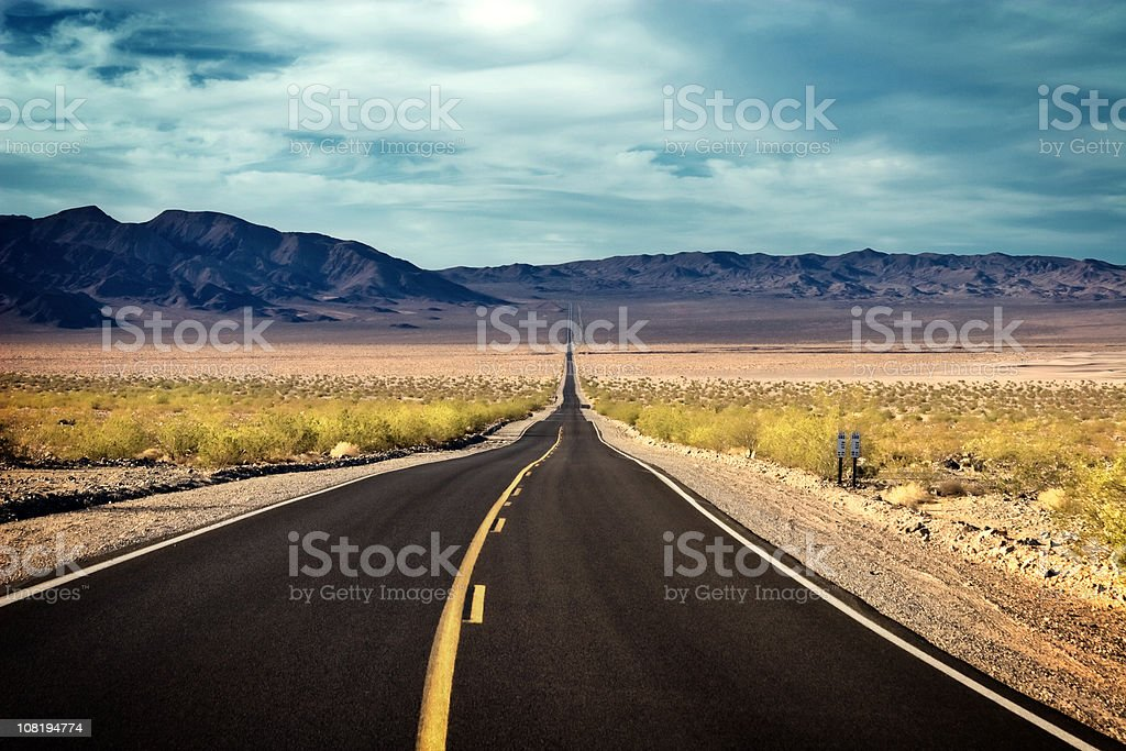 Desert Vista The Road into Forever royalty-free stock photo