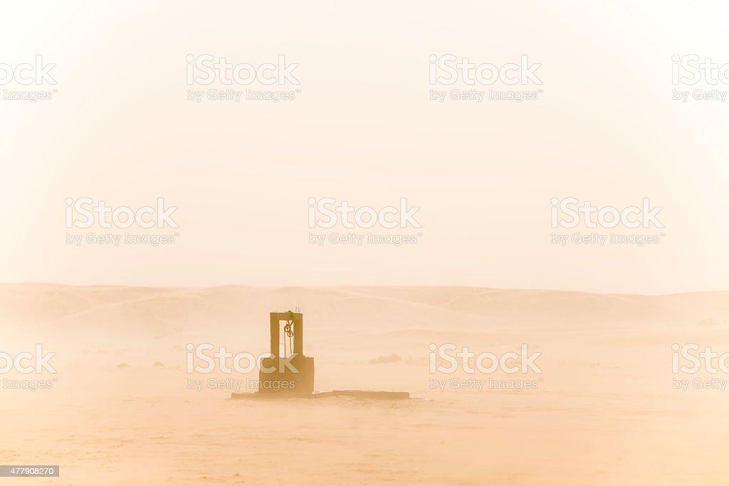 Desert well stock photo