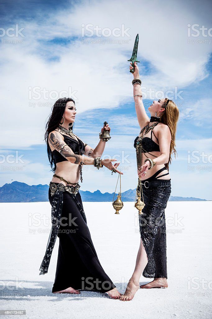 Desert Witches Series stock photo