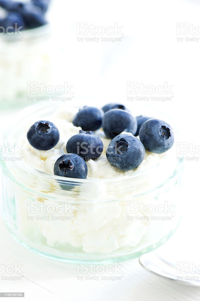 Desert with blueberry stock photo