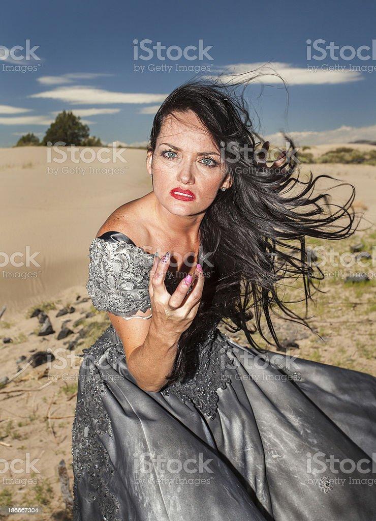 Desert Woman royalty-free stock photo