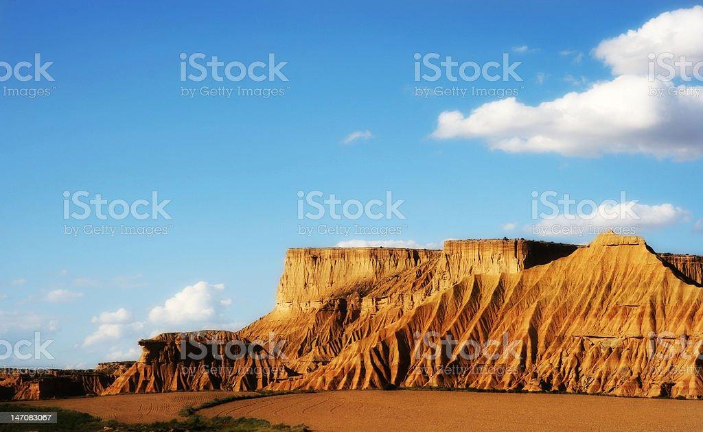 Desert zone in the Navarra spanish region stock photo
