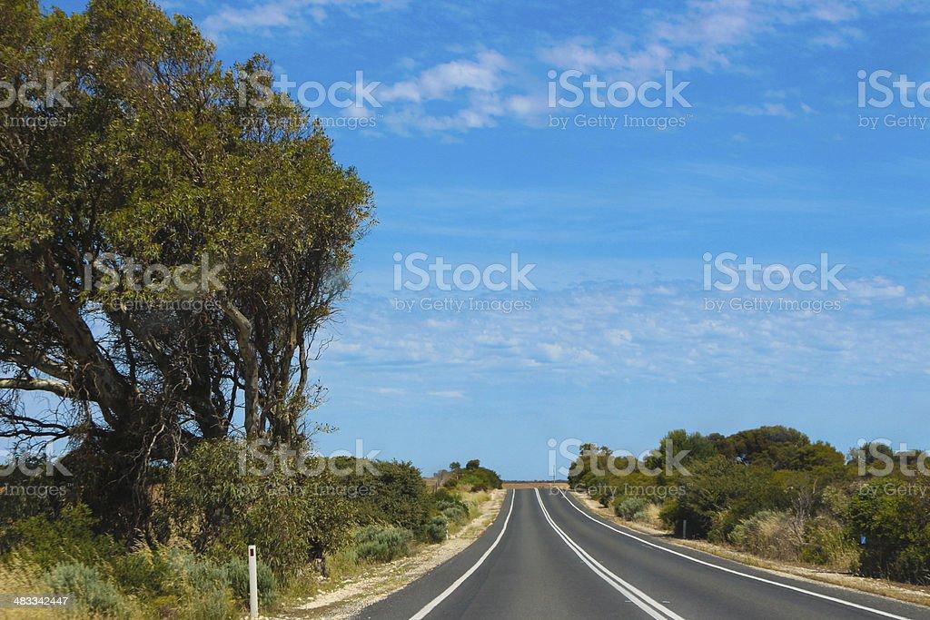 Deserted Australian Road royalty-free stock photo