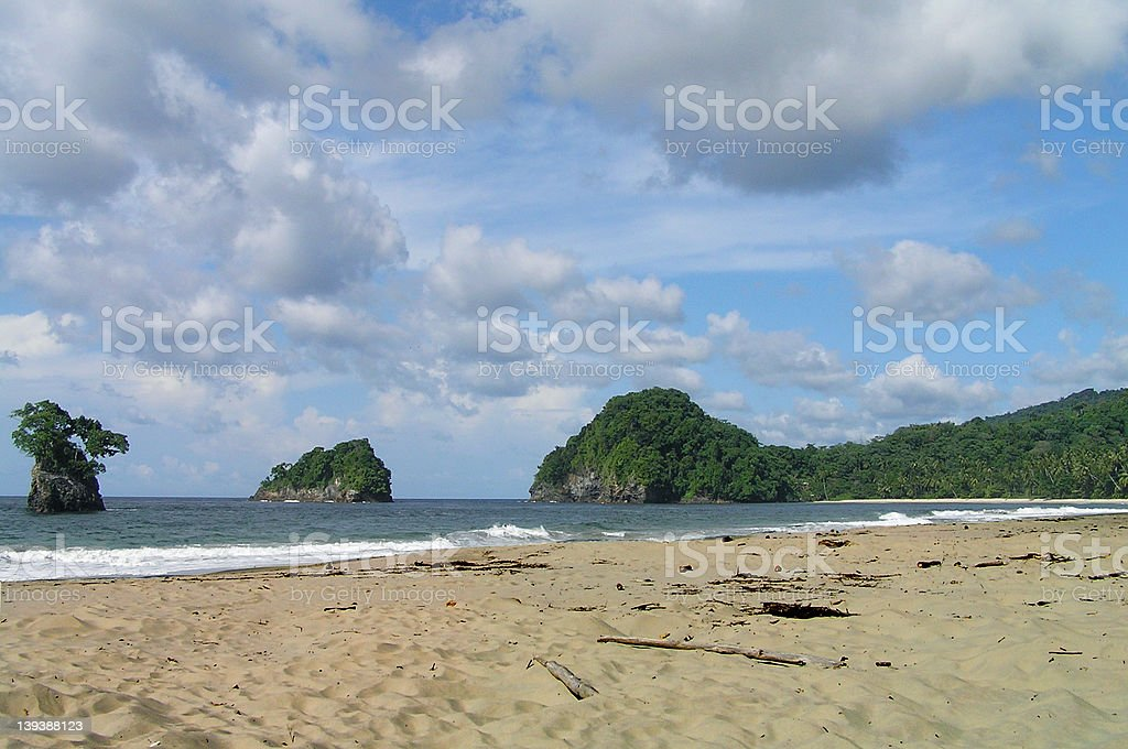 Deserted beach in Trinidad. royalty-free stock photo
