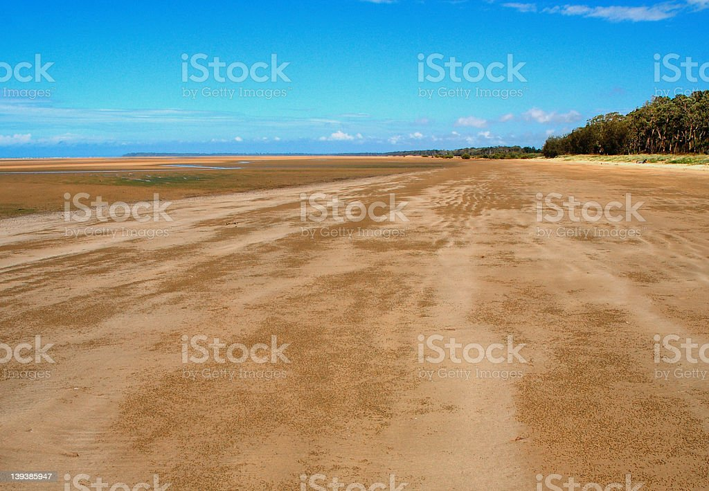 Deserted Beach royalty-free stock photo