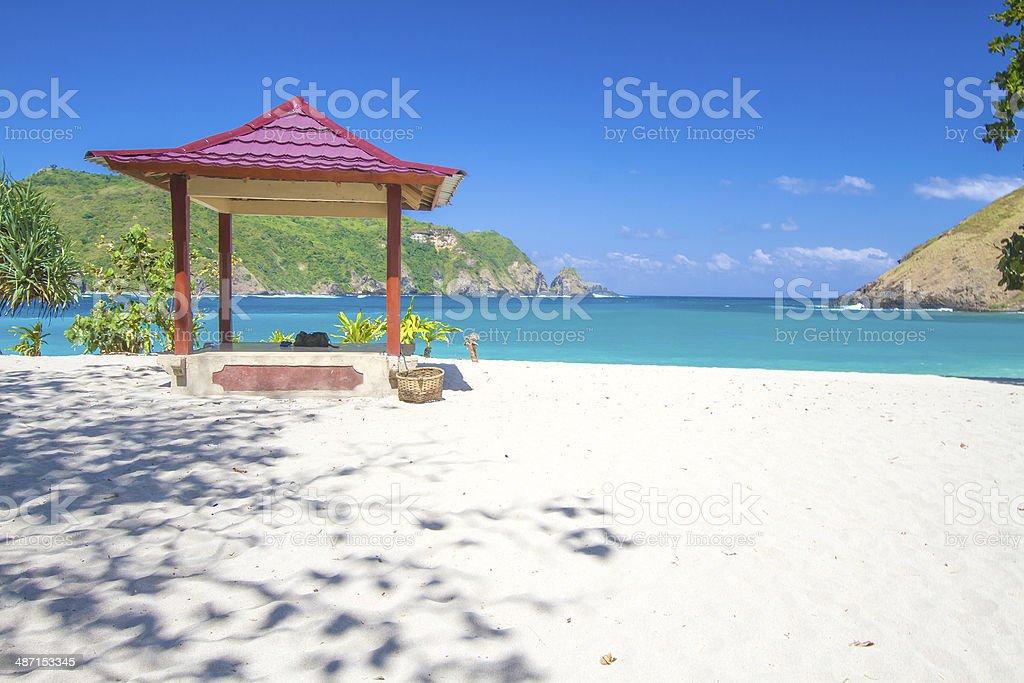 Deserted beach stock photo