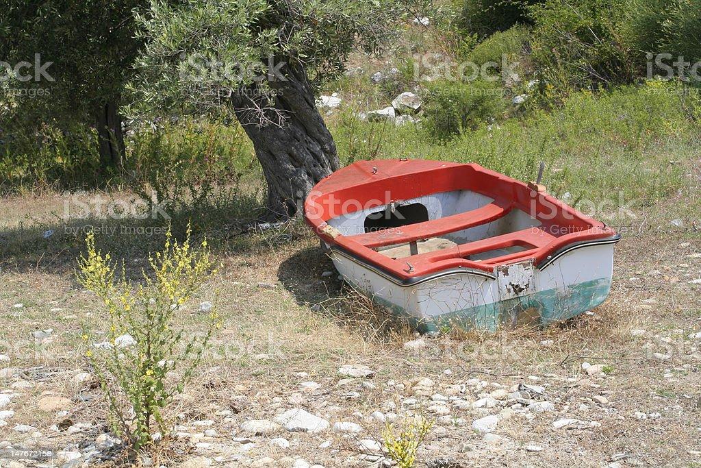 Deserted Boat royalty-free stock photo