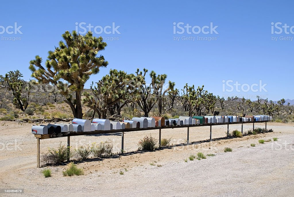 Deserted Desert Mail stock photo