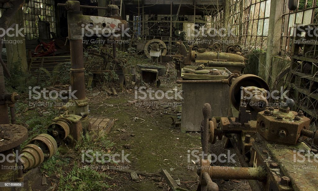 Deserted Factory royalty-free stock photo