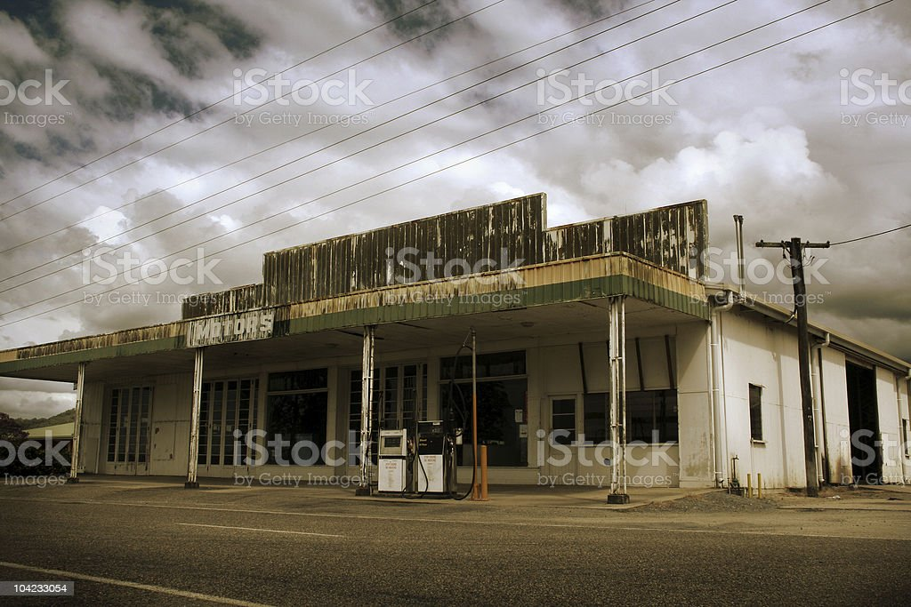 Deserted Gas Station royalty-free stock photo