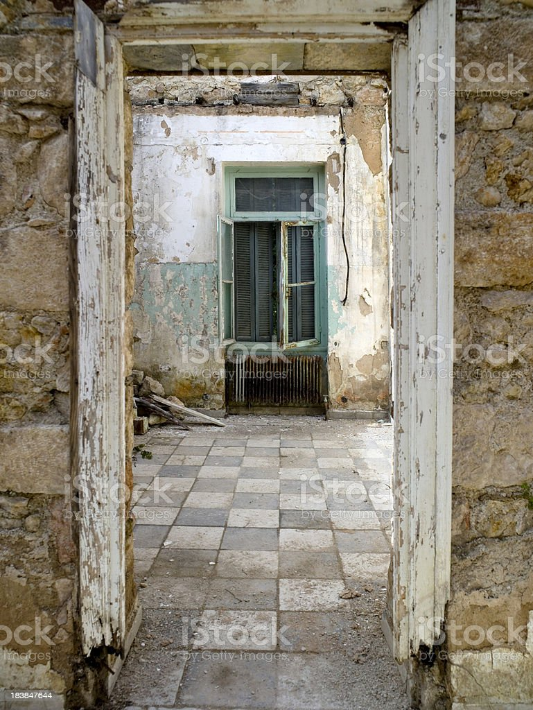 Deserted house. royalty-free stock photo