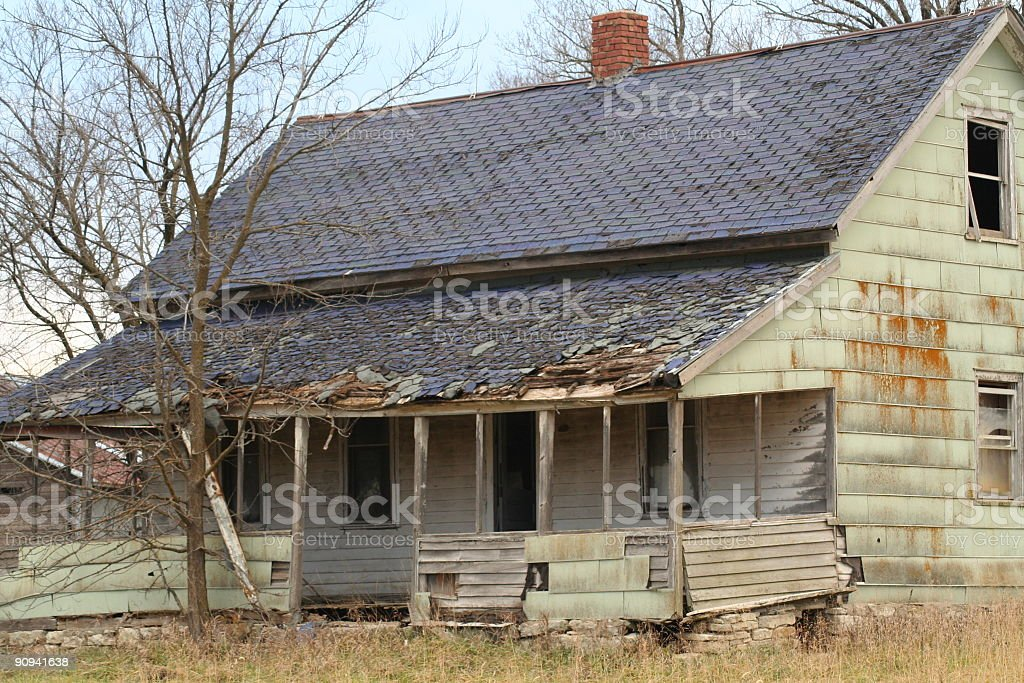 deserted  house stock photo