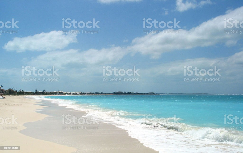 Deserted Island Beach royalty-free stock photo