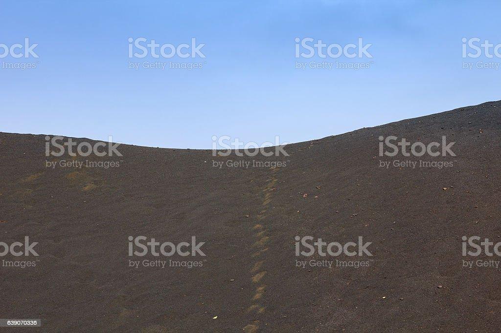 Deserted land stock photo