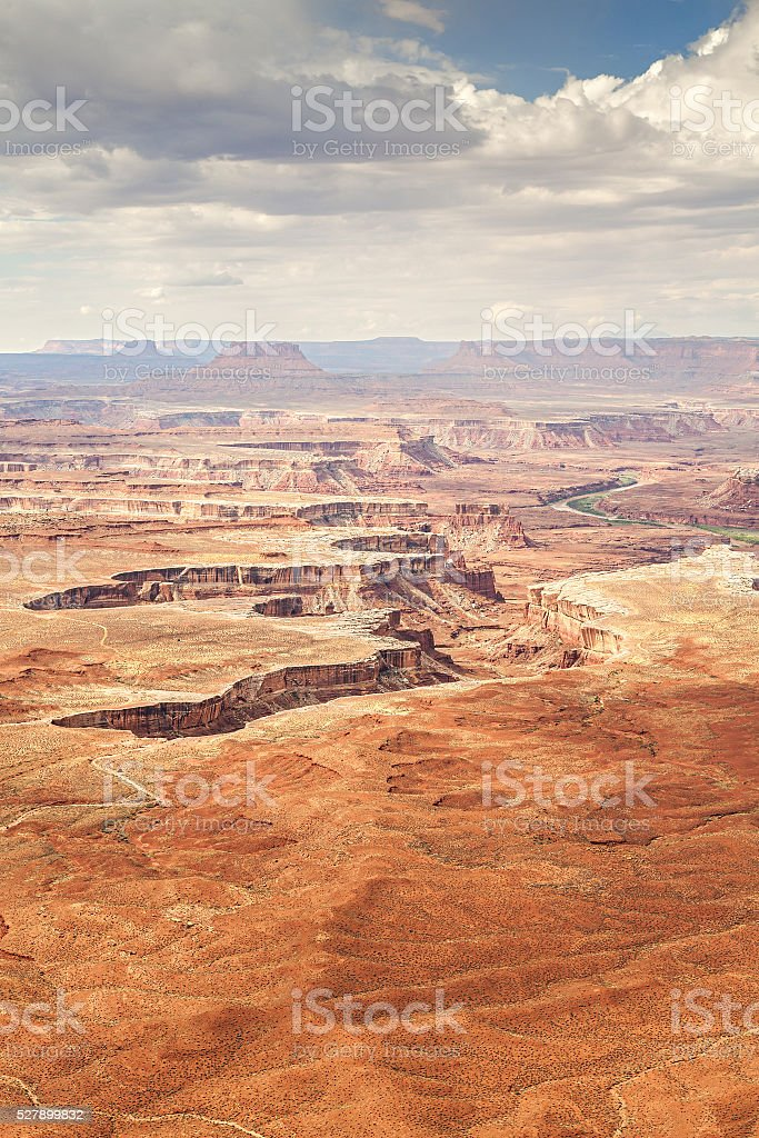 Deserted landscape in Canyonlands National Park. stock photo