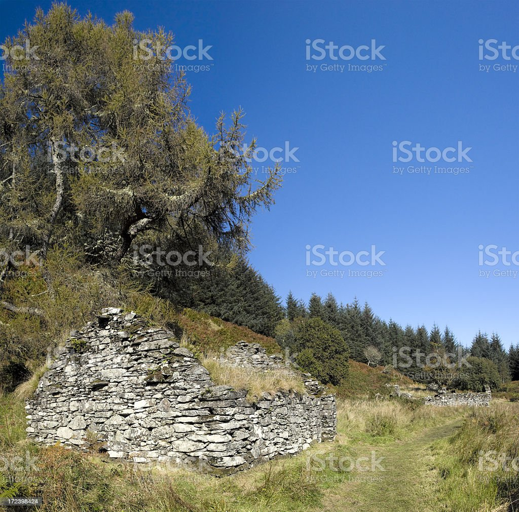 Deserted Medieval Village royalty-free stock photo