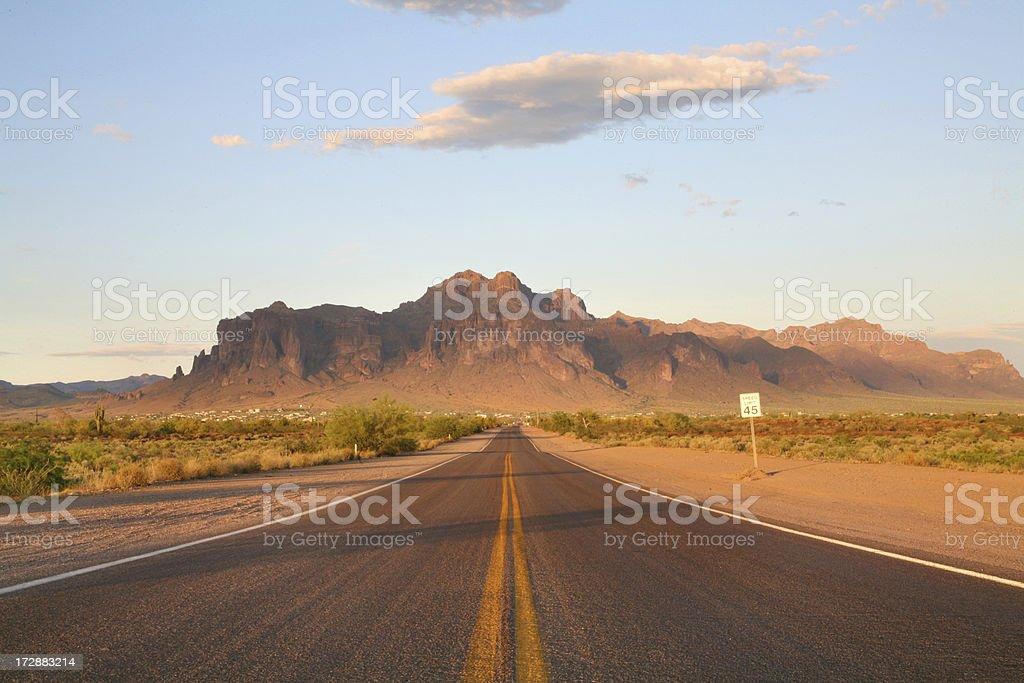 Deserted road stock photo