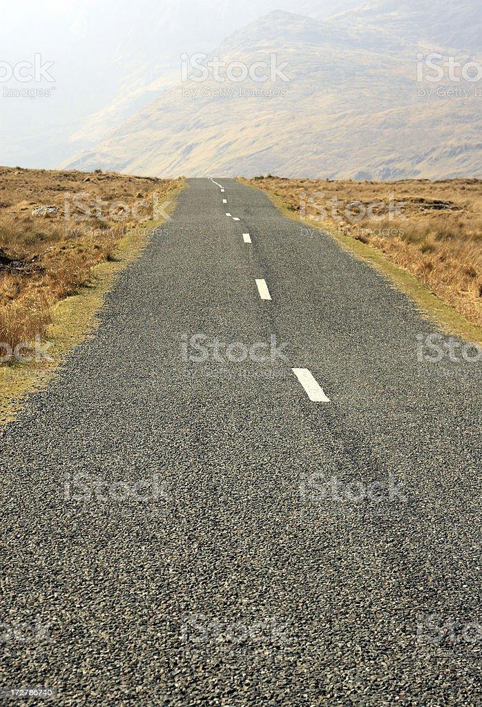 deserted roads - Connemara Ireland stock photo