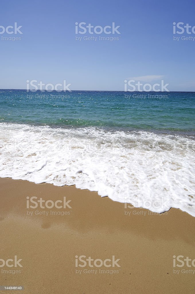deserted Roccapina beach in Corsica royalty-free stock photo