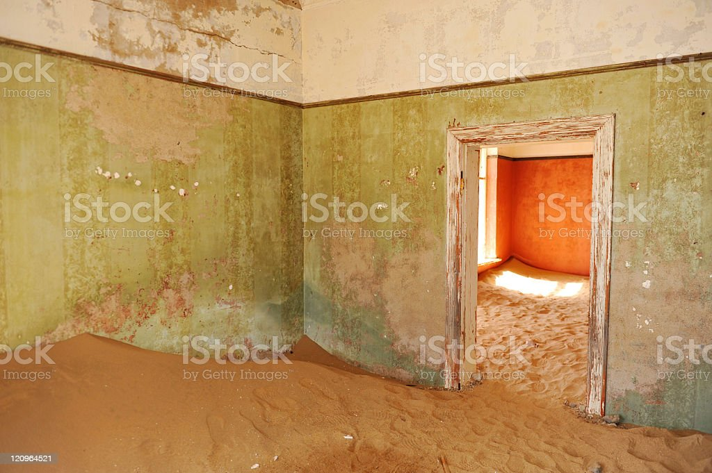 Deserted rooms stock photo