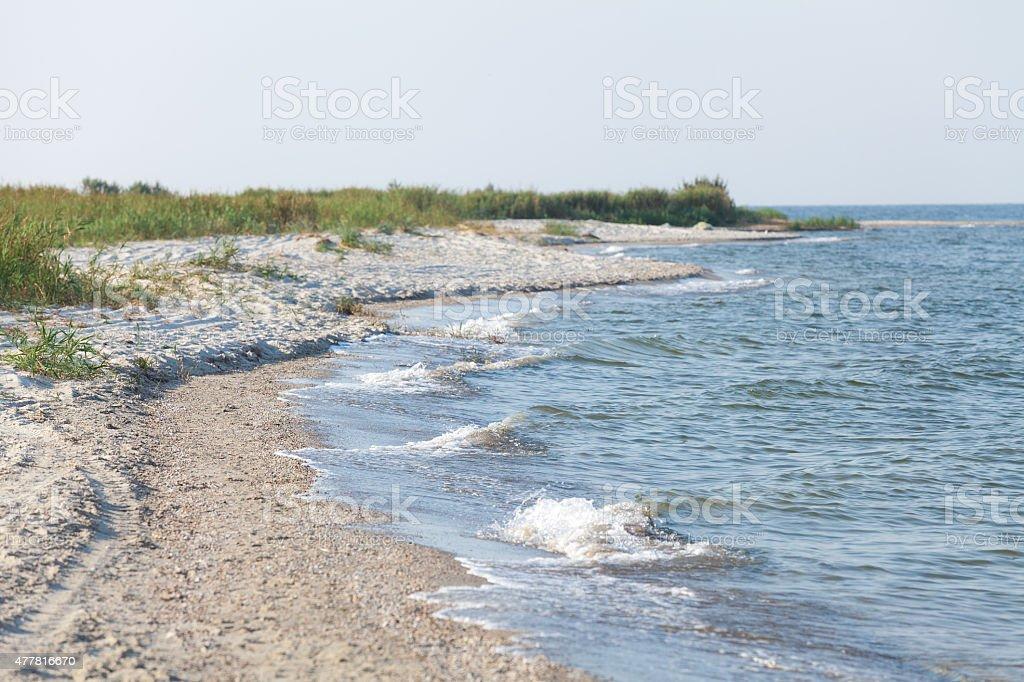 Deserted seascape stock photo