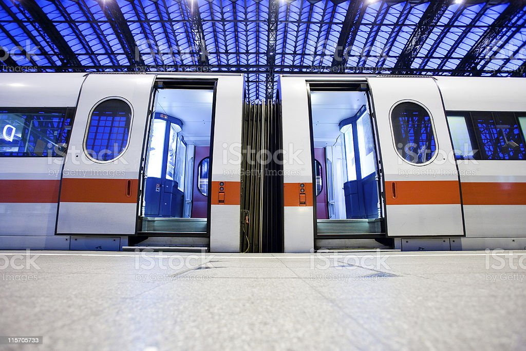 deserted train royalty-free stock photo