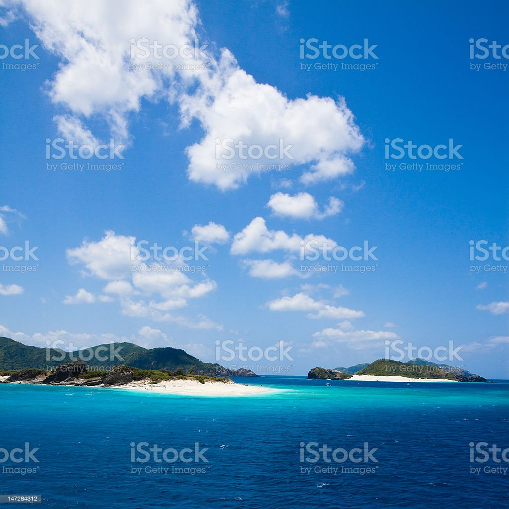 Deserted tropical islands of Japan royalty-free stock photo