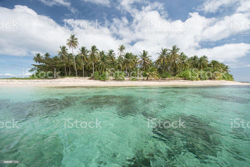 Deserted tropical paradise stock photo