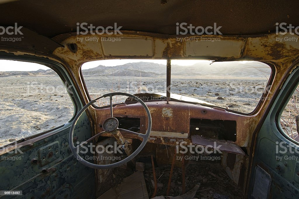Deserted truck stock photo