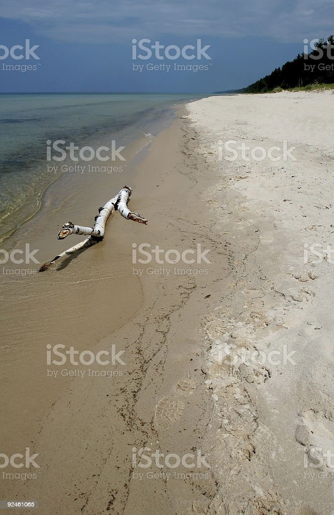 Deserted White Sand Beach royalty-free stock photo