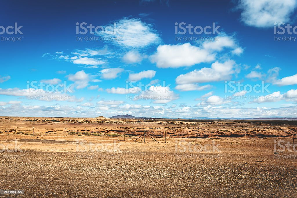 desertic landscape on Grand Canyon national park royalty-free stock photo