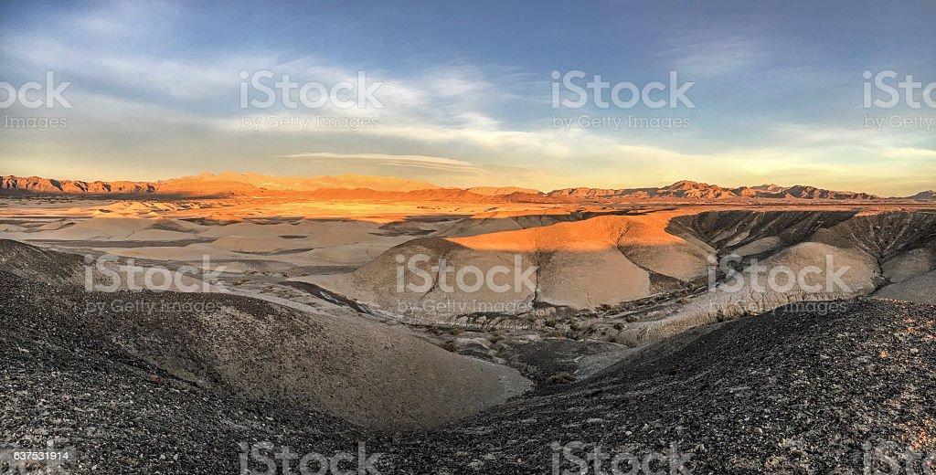 Desert's last light stock photo