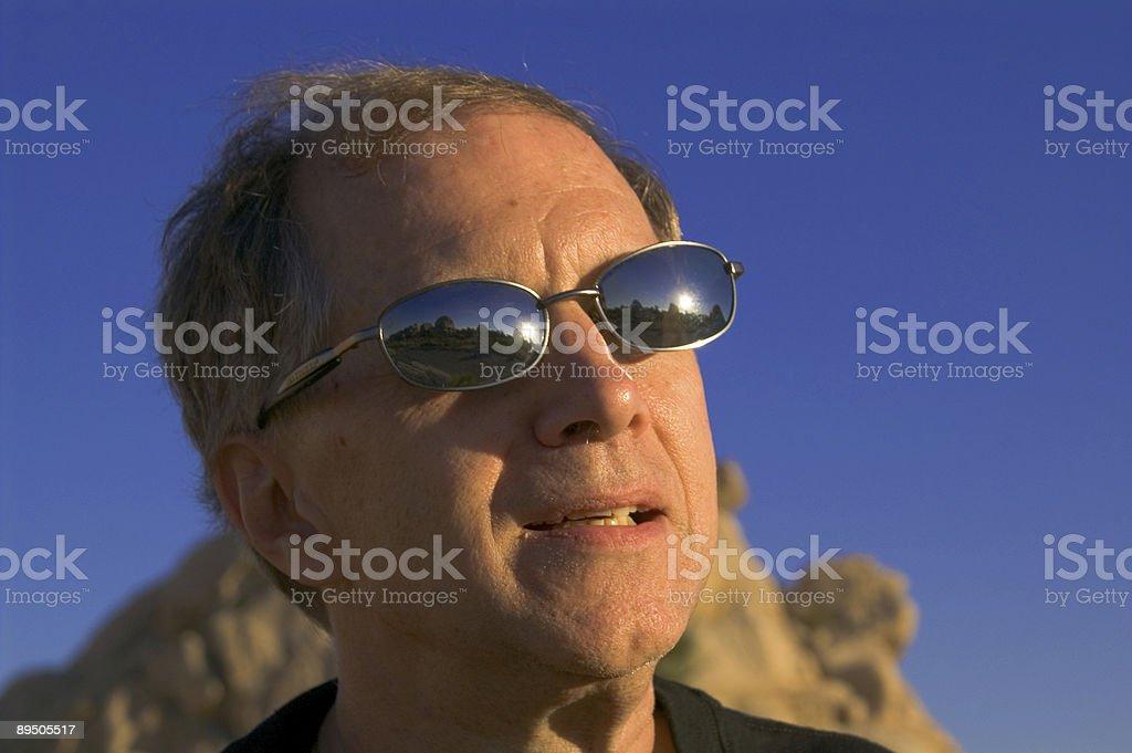 Desert-sunglasses royalty-free stock photo