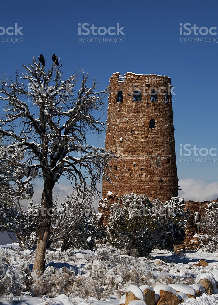 Deserview Tower and Ravens stock photo